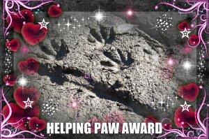Helping paw award